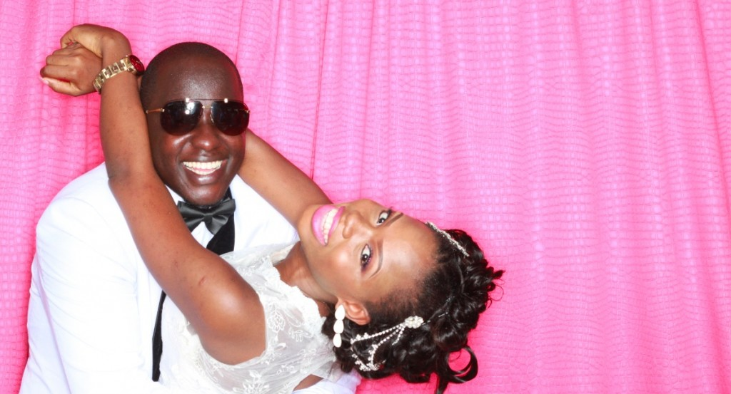Bride and Groom Photo Booth Pic by PhotoGenic