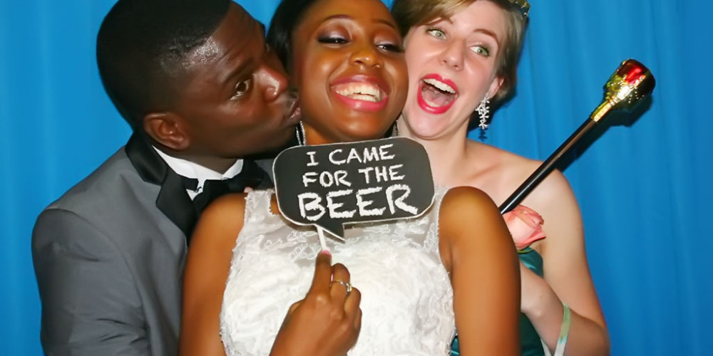 photo booth fun by couple wedding nigeria