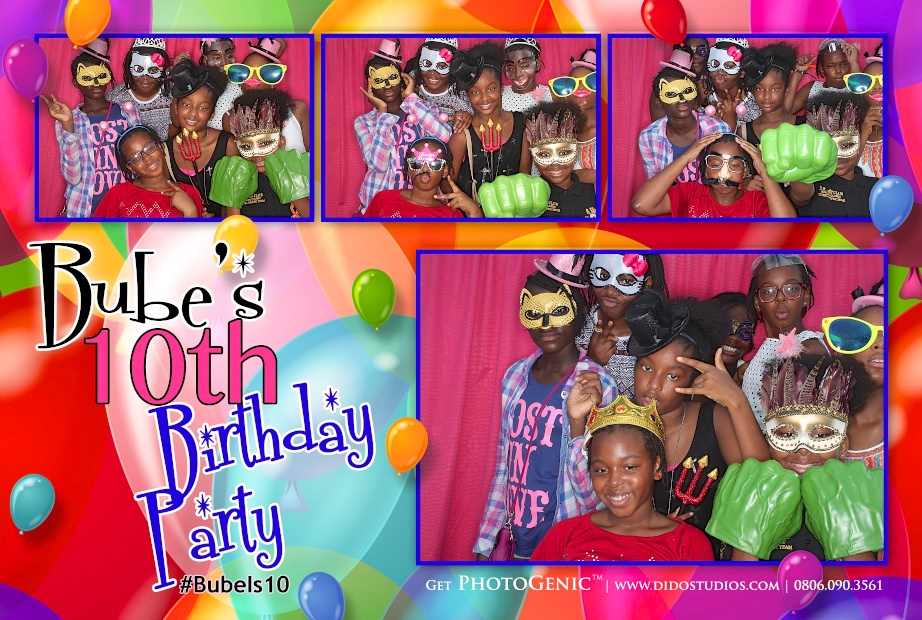 photo booth birthday party in lagos nigeria