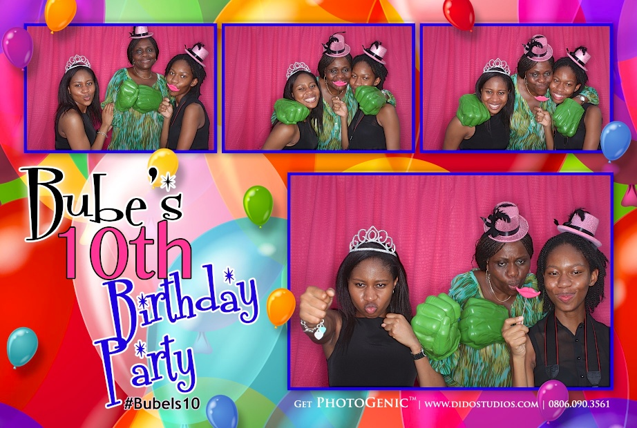 birthday party photo booth lagos nigeria