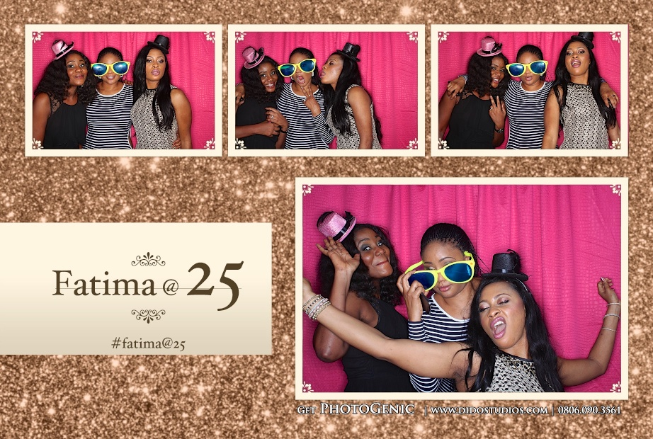 Silver Jubilee party birthday photo booth