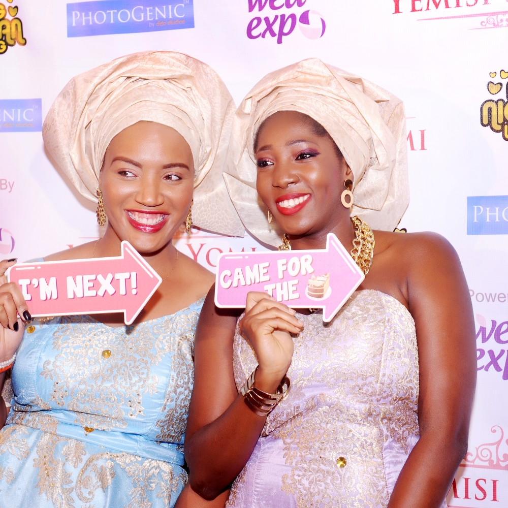 friends at wedding lagos nigeria photobooth