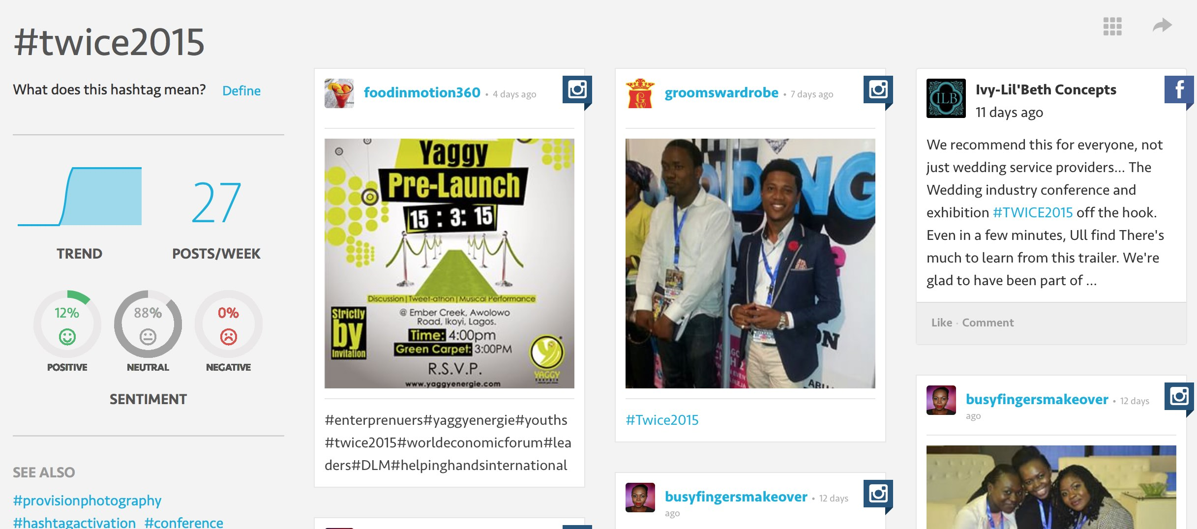 Hashtag Activation by PhotoGenic Photo Booth lagos Nigeria