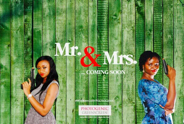 Lagos Nigeria marketing event with green screen photo booth