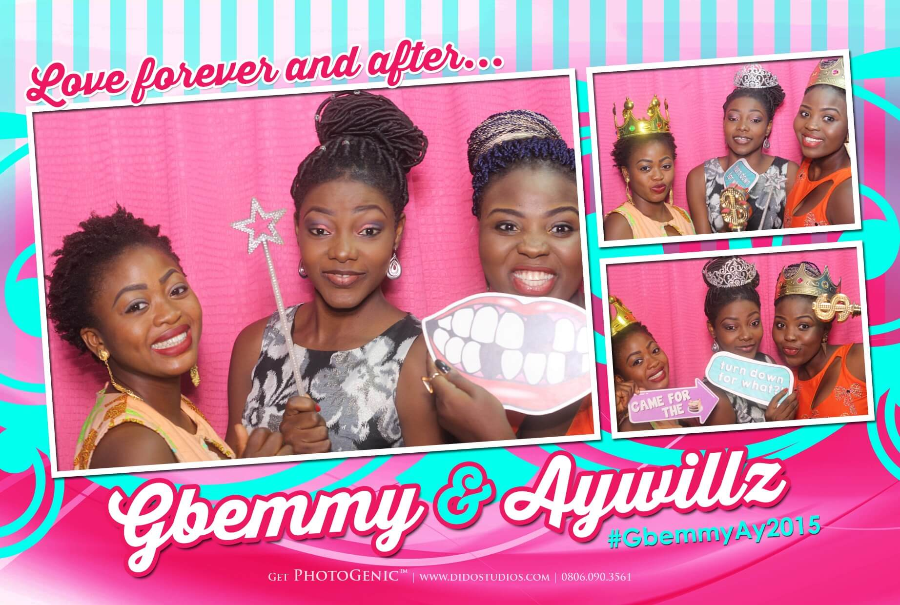 Exhibition Booth Lagos : Gbemmy aywillz photogenic photobooth awarded best