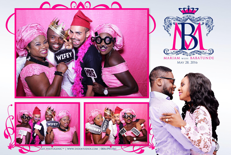 Photo booth lagos weddings